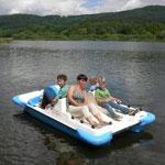 Tretbootfahren am Perlsee