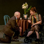 Glenn Beatty and Rachel Marcus in Gallery Players' production of A REMARKABLE MAN. (Photo by Kim T. Sharp)
