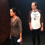 Sondra Hunt and Joseph Sexton rehearse