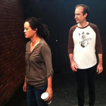 Sondra Hunt (Eleanor) and Joseph Sexton (Richard) in rehearsal.