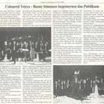 Chorios' Konzert mit Mainflingen (Schaafheimer Zeitung vom 05.10.2000)