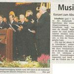 Konzert zum Abschluss des Jubiläumsjahres (Stadtpost Babenhausen vom 24.11.2004)