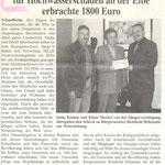 Spendenaktion für die Opfer des Elbhochwassers (Schaafheimer Zeitung vom 31.10.2002)
