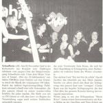 Chorios' 10-jähriges Jubiläum (Schaafheimer Zeitung vom 14.11.2002)