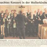 Frühlingskonzert in der ev. Kirche Schaafheim (Darmstädter Echo vom 29.04.2008)