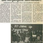 Chorios' 10-jähriges Jubiläum (Dieburger Anzeigenblatt vom 13.11.2002)