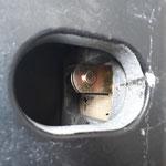 Blick in den Container-Lock