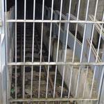 ingang van de tunnel op het mijnterrein van Crachet