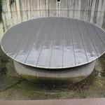 Hier stond de betonnen Forakyschacht.
