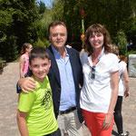 Ein schönes Andenken von meinem Europapark-Aufenthalt im Juli 2014. Ein Treffen mit Roland Mack.