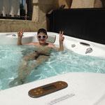 Die letzten drei Nächte im Hotel Colosseo konnte ich jeden Tag im Wirl-Pool auf dem Balkon baden.