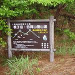 根子岳・四阿山登山道の看板