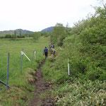 子根子岳への登り