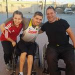 mit den Teamkollegen Annegret und Daniel