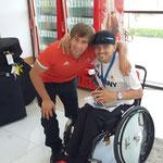 Mit dem Kollegen Sebastian Dietz ( Goldmedaille Kugelstoßen F33)