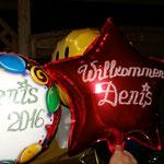 Ballons zu meiner Rückkehr