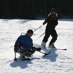Mit meinem Skilehrer in Aktion
