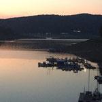 Rehbach Yachthafen Sonnenuntergang Edersee