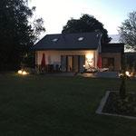 Ansicht Haus Garten Beleuchtung
