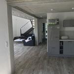 Küche  Wohnzimmer