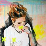 o.T. (No smoking), 2010 - Acryl und Tape auf Leinwand