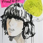 Friend of Mine, 2007 - Acryl, Ölkreide und Marker auf Leinwand
