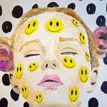o.T. (Smile like you mean it), 2014 - Acryl auf Leinwand