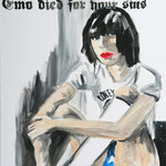 Emo died for your sins, 2007 - Acryl auf Leinwand
