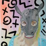 o.T., 2014 - Acryl und Dripstick auf Leinwand