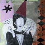 o.T. (I am a Beatles Fan), 2013 - Acryl, Papier und Tape auf Leinwand