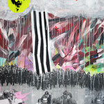 o.T. (Powered by emotions), 2010 - Acryl, Tape und Sprayfarbe auf Leinwand