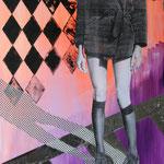 o.T., 2013 - Acryl, Papier und Tape auf Leinwand