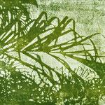 """Asta Rode, """"mein Garten II"""" Öl auf Aquarellpapier, 80 x 140 cm, 2011"""