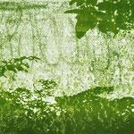 """Asta Rode, """"mein Garten I"""" Öl auf Aquarellpapier, 80 x 140 cm, 2011"""