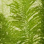 """Asta Rode, """"mein Garten IV"""" Öl auf Aquarellpapier, 140 x 80 cm, 2011"""
