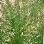 """Asta Rode, """"Rauschen"""" Relief, Öl auf Holz, 60  x  80 cm, 2011"""
