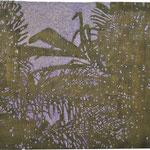 """Asta Rode, """"Zwielicht"""" Relief , Öl auf Holz, 40 x 60 cm, 2011"""