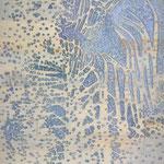 """Asta Rode,  in der Mitte"""" Relief, Öl auf Holz, 40 x 60 cm, 2011"""