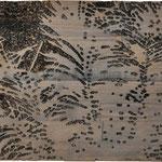 """Asta Rode, """"stille Nächte"""", Relief, Öl auf Holz, 30 x 40 cm, 2011"""