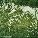 "Asta Rode, ""mein Garten III"" Öl auf Aquarellpapier, 80 x 100 cm, 2011"