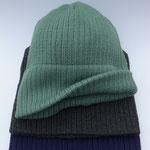 """Mütze """"Toni"""" // Merinowolle // Farbe 2021 // Farbe 444 // Farbe 414 (v.o.n.u.)"""