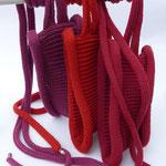"Stirnband ""Liana"" // Merinowolle // Farbe 2012 // Farbe 514 // Farbe 468 (v. l. n. r.)"