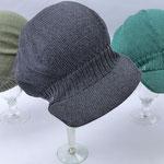 "Mütze ""Antonia"" // Baumwolle Viscose // Farbe nicht verfügbar // Farbe 37 // Farbe 220 (v. l. n. r.)"
