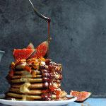 Cardamom Oatmeal Pancakes - gluten free and sugar free vegan pancakes