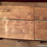 Set de table industriel bois diy