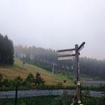 Winterberg: Skilift im August