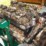 Jaguar V 12 Motor Hubraum 5,3 ltr. mit 6 Stück Weber Doppelvergaser ca. 400 PS Baujahr 1973 aus einem Jaguar E