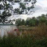 Blick auf Kellersee-Rundfahrt Anleger Malente