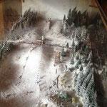 im Rhein-Weser-Turm: das Modell einer alten Schanze