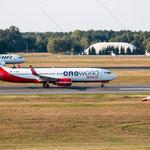 2014-09-04 Berlin-Tegel-Flughafen 015 D-ABME Boeing 737-86J OH-LVH Airbus A319-112© Pekasus1988